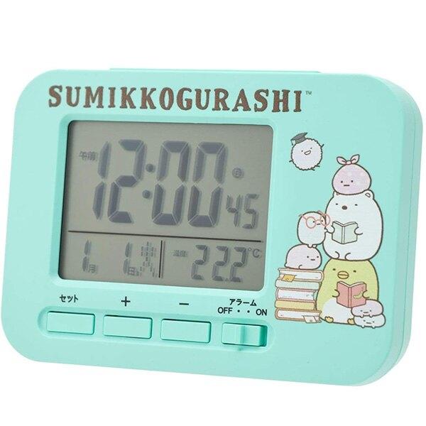 【角落生物 電子時鐘】角落生物 電子時鐘 鬧鐘 日期 時間 溫度 綠色 角落小夥伴 該該貝比