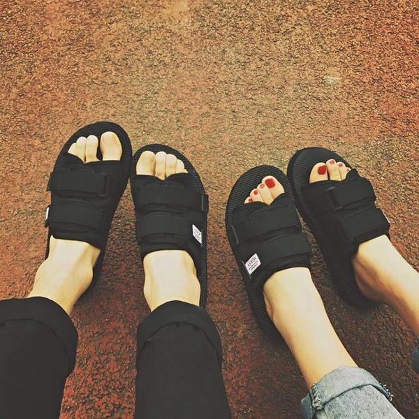 一字涼拖韓版時尚外穿情侶沙灘鞋越南涼鞋厚底半拖鞋 居享優品