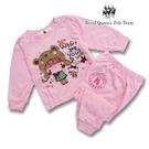 粉色小熊女孩圖案薄棉長袖居家休閒服 睡衣套裝 RQ POLO 春夏款 [31163]