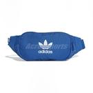 adidas 腰包 Essential Crossbody Bag 藍 白 男女款 側背包 三葉草 【ACS】 ED8682