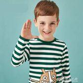 兒童長袖T恤男童童裝秋裝寶寶上衣卡通印花休閒 探索先鋒