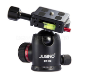 呈現攝影-Jusino 佳鑫悅 新版BT-02 球型雲台 黑色 有水平儀 適合反摺三腳架用 相機腳架
