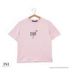 【INI】刺繡甜美、精緻舒適休閒上衣.粉...