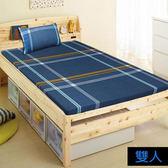 【KOTAS】5公分透氣排汗床墊雙人高密度1000 三折 (送枕頭套X2)-藍格