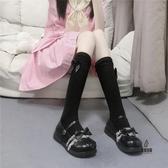 小腿襪韓版甜美蝴蝶結洛麗塔瘦腿襪中筒襪女日系JK學院風【愛物及屋】
