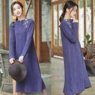 洋裝-澳洲100%羊毛裙手工刺繡毛衣/設計家 Z81215Z