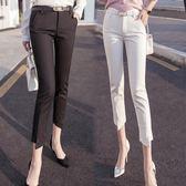 九分褲女新款褲子修身顯瘦黑色小腳鉛筆褲韓版休閒西裝褲