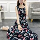 波西米亞棉綢連衣裙女夏2018新款中長款綿綢年輕款寬鬆收腰民族風