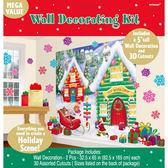 聖誕 裝飾 佈置 牆壁裝飾紙卡組-雪屋