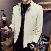 (百貨週年慶)新款男士正韓外套潮流休閒修身帥氣工裝夾克春秋裝衣服薄款