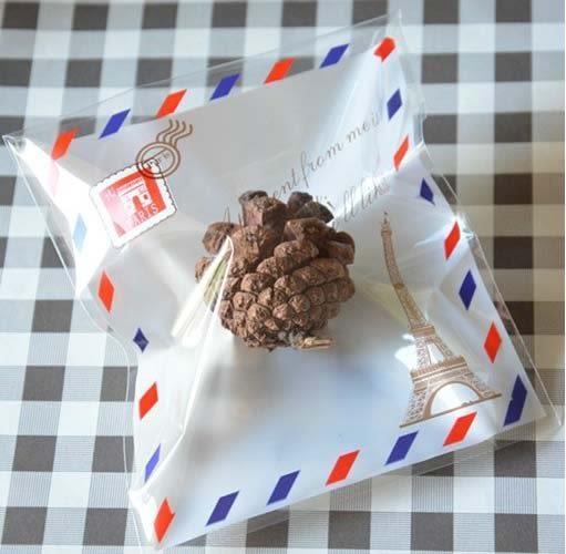 95入 鐵塔信封 餅乾袋 禮品袋 糖果袋