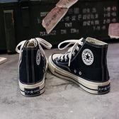 帆布鞋 高筒帆布鞋女學生韓版ulzzang年春夏新款百搭布鞋流行板鞋子【快速出貨】