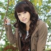 假髮(長髮)-韓版可愛捲髮斜瀏海女配件3色73fi47[時尚巴黎]