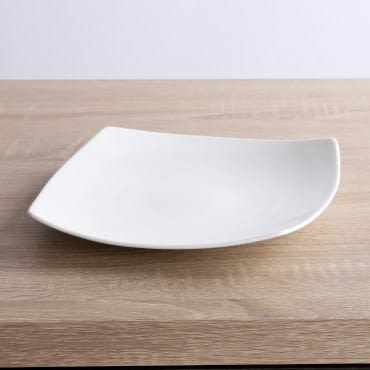 HOLA home 緻白骨瓷方盤16cm