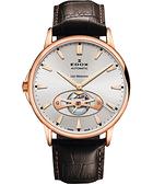 EDOX Les Bemonts Open Vision 薄曼系列機械腕錶-銀 E85021.37R.AIR