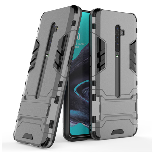 OPPO Reno 2 鋼鐵人 支架殼 手機殼 防摔 支架 保護殼 全包邊