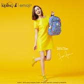 Kipling Emoji系列香蕉吊飾 條紋圖案後背包-大