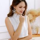 朵曼堤.假領子 雪紡紗上衣氣質尖領氣質浪漫蕾絲領子尖領韓版針織衫洋裝[E30321] 預購