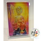 地藏菩薩3D雙變卡+壓克力座   + 熄滅病痛身體健康(白)香包 *1 【十方佛教文物】