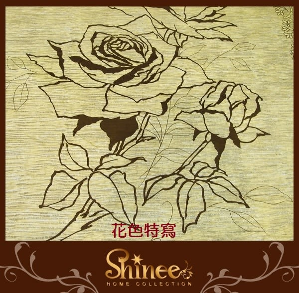 原價1980元↘SHINEE 台灣製 100%精梳棉(玫瑰花園)加大雙人床包三件組(床包x1+枕套x2)(180X186CM)