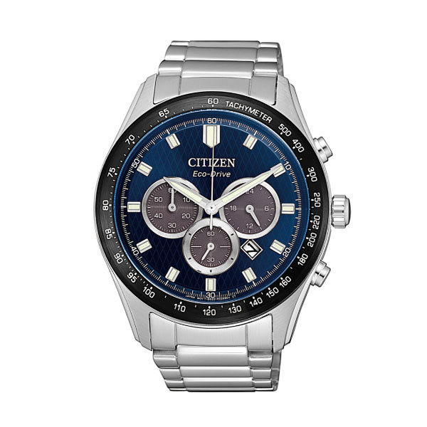 CITIZEN Eco-Drive  新上市光動能 特殊面盤計時腕錶 CA4454-89L 藍x銀