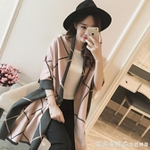 潮牌圍巾女秋冬季韓版百搭雙面羊絨超大披肩兩用加厚保暖圍脖女 美眉新品