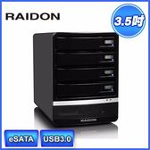 富廉網RAIDON 銳銨GR5630 SB3 3 5 吋USB3 0 eSATA 4bay