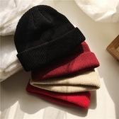 韓國短版針織帽女冬季男士毛線帽潮流包頭帽 萬客居