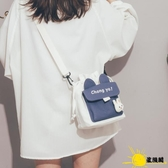 可愛小包包2020新款ins日系原宿帆布斜挎包女學生單肩水桶包側背包