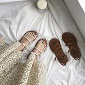 涼鞋女仙女風新品夏季學生百搭ins潮羅馬時裝溫柔風平底鞋 - 風尚3C