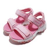 Skechers 涼鞋 D Lites-Cosmic Splash 粉紅 白 魔鬼氈 吸震中底 女鞋 大童鞋 涼拖鞋【PUMP306】 996334LPNK