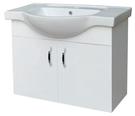 【麗室衛浴】圓弧型磁盆含白色鋼琴烤漆浴櫃 60*46.5*H60CM