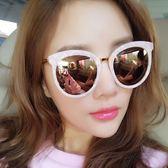 【TT】墨鏡女 明星款眼鏡新款圓形彩色太陽鏡女士圓臉韓版複古網紅墨鏡