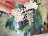 古裝漢服日常小清新頭飾流蘇花朵對夾發飾可愛少女心漢元素發飾