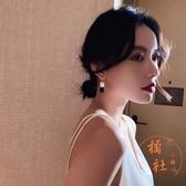 韓國s925純銀針六芒星微鑲不對稱耳釘【橘社小鎮】