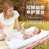 嬰兒換尿布操作臺寶寶護理撫觸按摩折疊換衣整理洗澡臺    SQ5672『樂愛居家館』