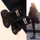 女馬丁靴 襪靴 短靴 百搭英倫風內增高單靴