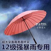 24骨 傘 防風雙人大雨傘 巴黎春天