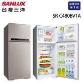 SANLUX台灣三洋 冰箱 480L雙門直流變頻冰箱 SR-C480BV1A