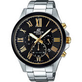 CASIO卡西歐 EDIFICE 羅馬計時手錶-黑x銀 EFV-500DB-1AVUDF / EFV-500DB-1A