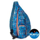 【KAVU】Rope Sling 休閒斜肩 背包『電氣藍百合』944-581 露營.斜背包.後背包.雙肩包.側背包