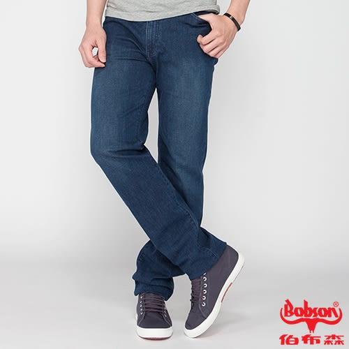BOBSON 男款高腰膠原蛋白彈性直筒褲