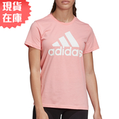 【現貨】Adidas MUST HAVES BADGE 女裝 短袖 休閒 修身 純棉 粉【運動世界】FQ3239