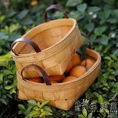 Kens日式木編果盤 家用水果籃客廳零食筐廚房蔬菜收納筐雜物籃 小時光生活館