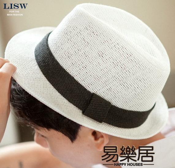 紳士帽歐美防曬休閒度假圓頂遮陽帽