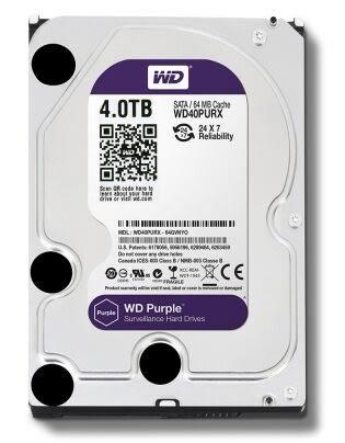 WD 4TB (40PURZ)【監控碟(紫標)】64M/5400轉/三年保【刷卡分期價】