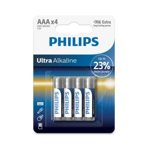 PHILIPS 超鹼4號電池4入(背卡)