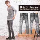 高磅數質感灰造型牛仔褲