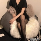 偽娘絲襪黑色B字母絲襪女黑閃鉆帶字母b性感超薄絲襪連褲襪美腿防脫絲 快速出貨