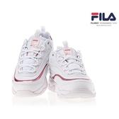 KUMO SHOES-現貨 FILA FILARAY 復古 雙線 老爹鞋 粉色 雷射 炫彩 女鞋 FS1SIA3063X